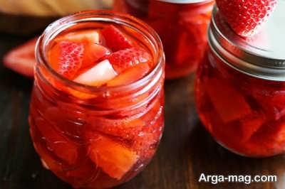 طرز تهیه ترشی توت فرنگی با طعم خانگی فوق العاده عالی