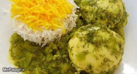 آموزش طرز تهیه خورشت باقلا قاتق خوشمزه با باقالی سبز و شوید