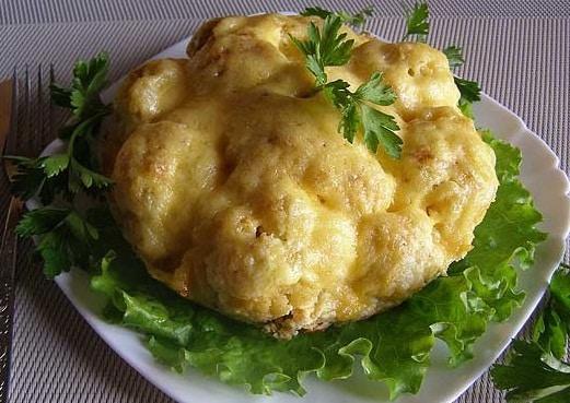 طرز تهیه کیک گل کلم با سینه مرغ غذایی خوشمزه