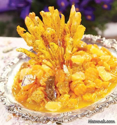 آموزش و دستور پخت خورش هویج و پرتقال